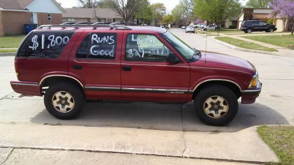 Photo 1995 Chevy Blazer LS 4x4 - $1800 (Tulsa)