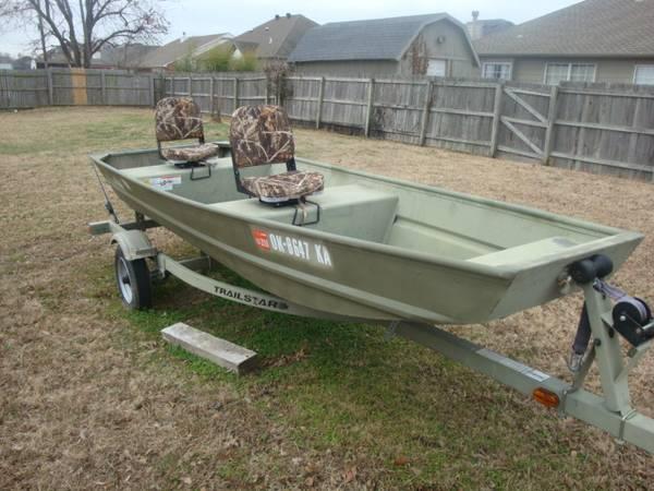 2010 Tracker Trailstar Trailer 14 FT Jon Boat - $1200 (Owasso