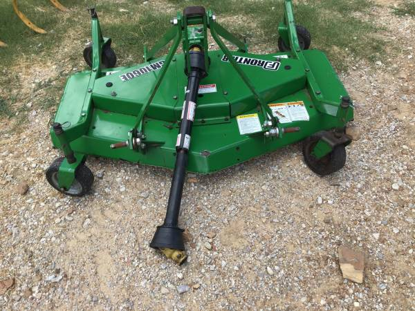 Photo 5ft frontier GM1060E finish mower for tractor. 173 hours of use - $900 (Tulsa)