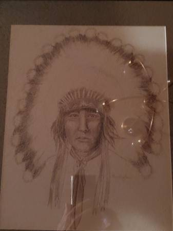 Photo Acee Blue Eagle Pencil Drawing - $8,000 (Muskogee)
