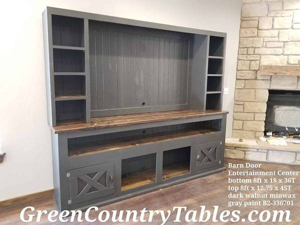 Photo Custom made sliding barn door console entertainment center and more - $123 (Cleveland Oklahoma we deliver)