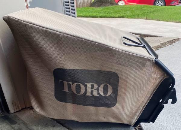 Photo Grass bagger for Toro lawnmower - $15 (Tulsa)