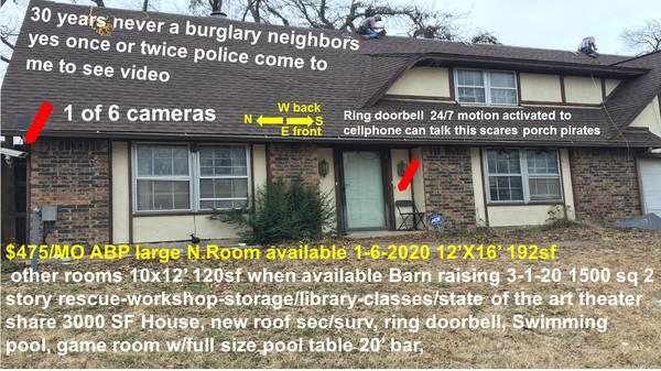 Photo House ALLBILL PAID secsurv syst wifi cable swimming pool, pool table (Tulsa)