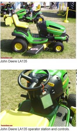 Photo John Deere LA135 Lawn and Garden Tractor - $1,000 (Tulsa)