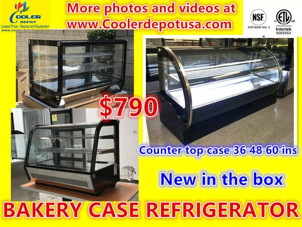 Photo NSF ETL Countertop Glass Refrigerated Display Case BAKERY PASTRY DELI - $790 (100 new)