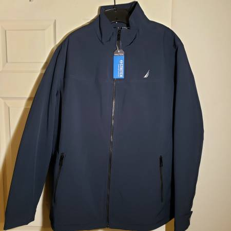 Photo Nautical Jacket Coat Midweight New Mens LT Navy Blue Water Resistant - $40 (Tulsa)
