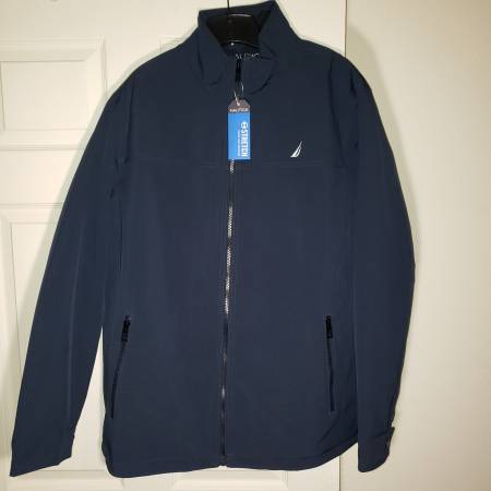 Photo Nautical Jacket Coat Midweight New Mens LT Navy Blue Water Resistant - $25 (South Tulsa)