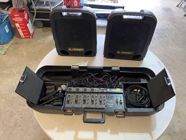 Photo Peavey Portable PA System - 5 Channel, 150 WATT Powered Mixer - $325 (Bartlesville)