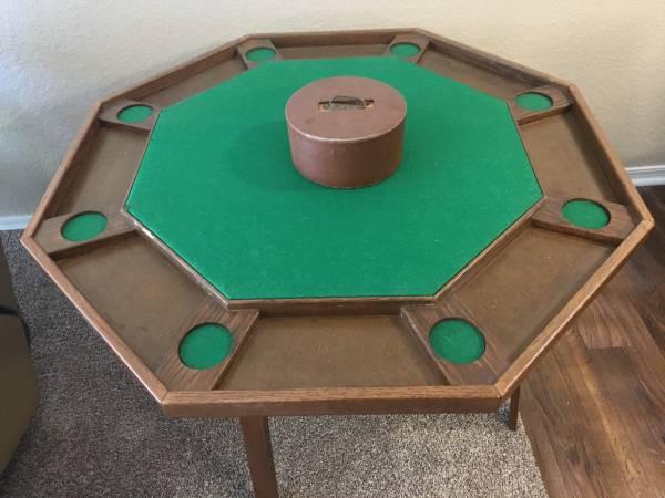 Photo Poker Table - $60 (Broken Arrow)