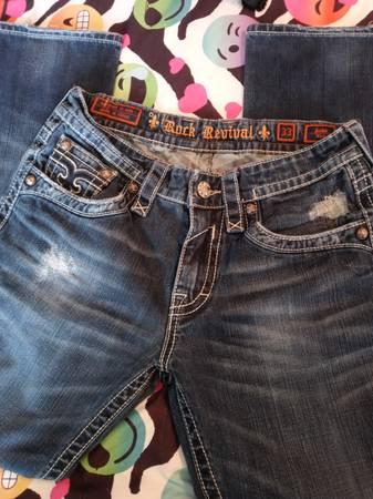 Photo Rock revival jeans - $35 (Broken Arrow)