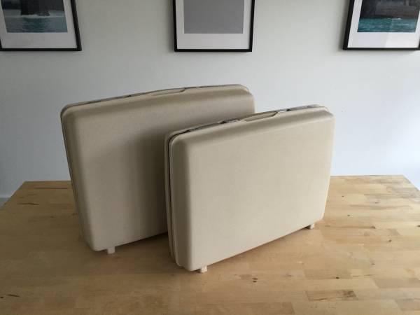 Photo Vintage Samsonite quotSaturnquot Series Hardshell Suitcases - Cream Color - $50 (Tulsa)