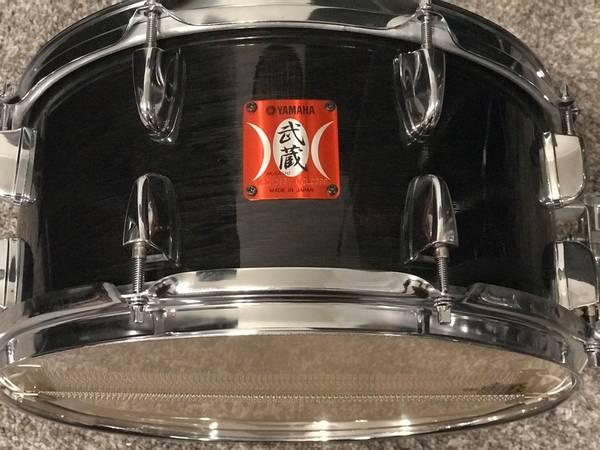 Photo Yamaha Musashi Oak Transparent Black Finish Snare Drum - $200 (Owasso)