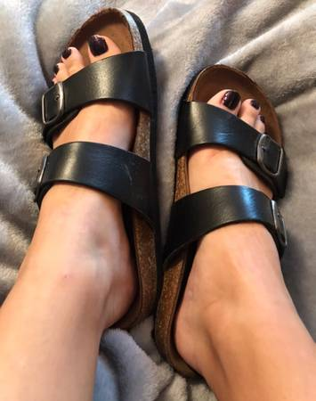 Photo well worn black birkenstocks - $75 (Tulsa)