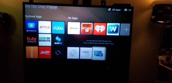 Photo $100 OR $150 BOTH 65quot MITSUBISHI 1080HD TV  SONY SMART BLU-RAY PLAYER - $100 (JACKSONVILLE)