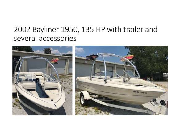 Photo 2002 Bayliner 1950, 135HP with trailer - $8,800 (Northport)