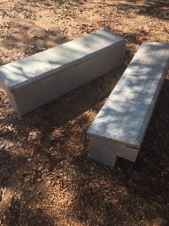 Photo Aluminum checker plate side boxes - $125 (Moundville)