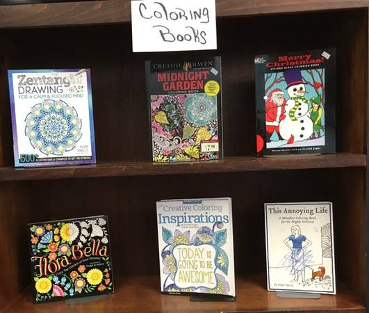 Photo GREAT Selection Adult Coloring Books NEW  Market Place Thrift Store (707 Andrew Jackson Way)