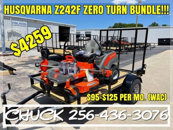 Photo HUSQVARNA Z242f ZERO TURN LAWN MOWER BUNDLE FINANCING AVAILABLE - $4,259 (TUSCUMBIA)