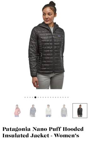 Photo Patagonia Nano Puff Hoody Insulated Jacket (Womens) small (Bessemer)