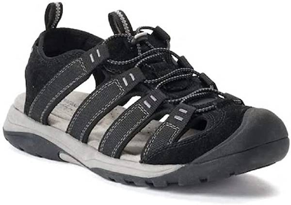 Photo Croft  Barrow Legato Men Ortholite Fisherman Sandal Shoes BLACK Sz 10 - $20 (Akron)