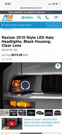 Photo 05-09 mustang headlights - $150 (Burley Idaho)
