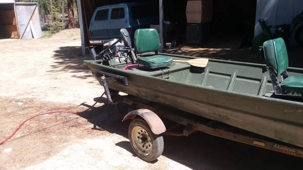 Photo 2009 14 foot Alumacraft Jon Boat - $2,100 (Idaho City)