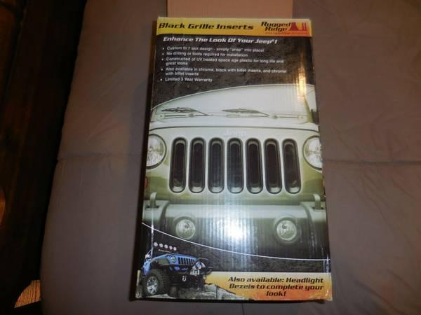 Photo Black Grille Insert set for a 2007-18 Jeep Wrangler JK - $20 (Jerome)