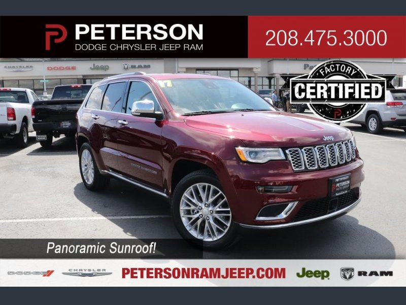 Photo Certified 2017 Jeep Grand Cherokee 4WD Summit w Skid Plate Group for sale