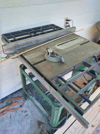 Photo Craftsman Shop Table Saw - $150