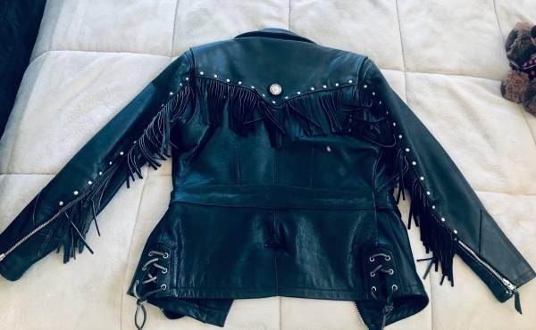 Photo Harley Davidson Fringed Jacket - Womens - $225 (Eagle)