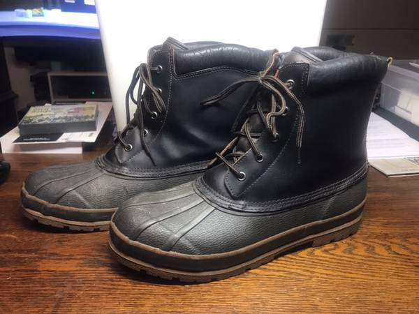 Photo Mens Size 13 Medium Width Rubber Winter Boots Packs Leather Thermolite - $15 (Twin Falls)