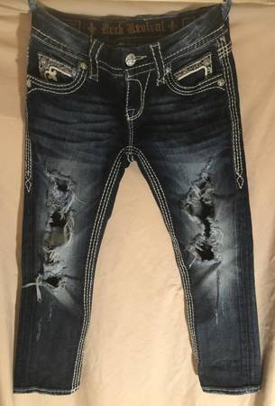 Photo Rock Revival Jeans - Size 25 - $15 (Twin Falls)