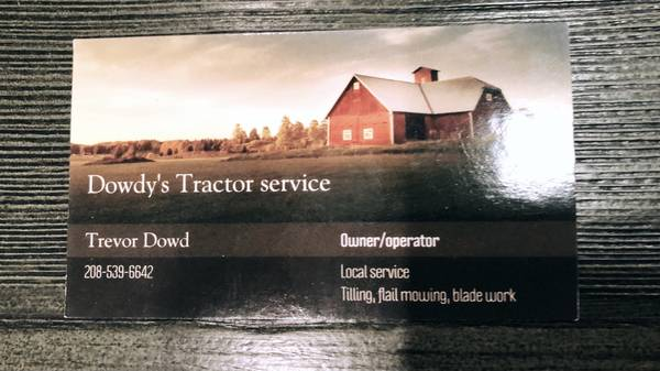 Photo Tractor Work - Mowing  Tilling (Rototilling) - $75 (Twin Falls)