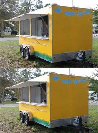 Photo 14 ft Gwen CateringFast Food trailer  For sale by owner __ - $800 (elko)