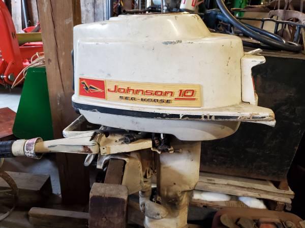 Photo Johnson Sea-Horse 10 HP Outboard Motor - $450 (Fredonia)
