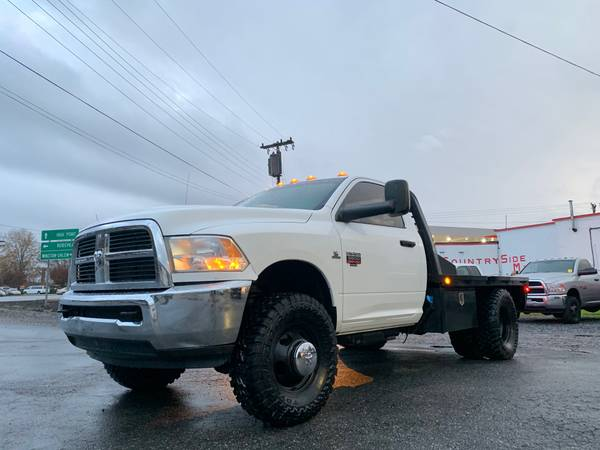 Photo One Owner 2012 Dodge Ram 3500 4x4 Single Cab Dually Flatbed Toyo MT39s - $30,995 (Chevy Ford Toyota Dodge Ram Nissan Jeep GMC Honda)