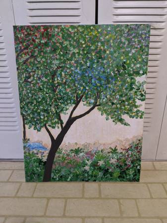 Photo Painting of tree -- one of a kind - $40 (State College)