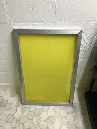 Photo Screen Printing Screen - Aluminum Frame 25quot x 36quot - $40 (Amherst)