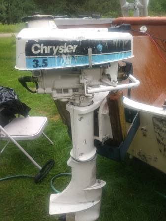 Photo 3.5 hp chrysler outboard - $200