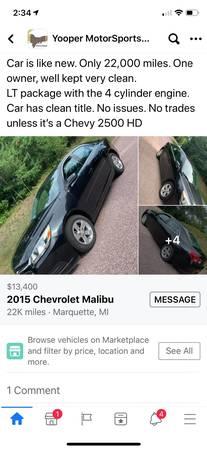 Photo Chevrolet Malibu - $13,400 (Marquette)