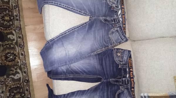 Photo Men39s Rock revival jeans - $60 (Escanaba)