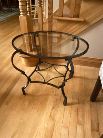 Photo Pier 1 Chasca Glass Top End Table - $50