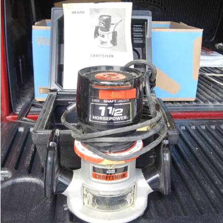 Photo Craftsman 1 12 HP Router - $100 (Camden)