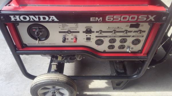 Photo NEW HONDA EM 6500SX GENERATOR - $1,975 (NEW HARTFORD)