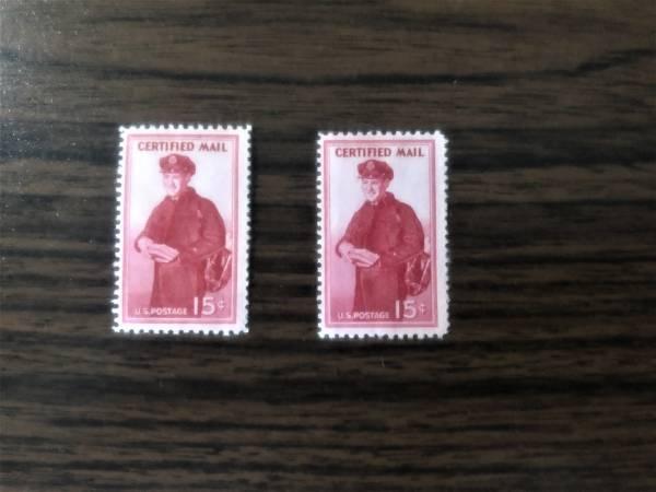 Photo Vintage 1955 US Postal Certified Mail Sts - $2 (Sauquoit)
