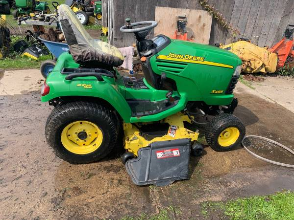 Photo X485 John Deere with snow plow - $4900