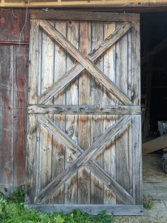 Photo sliding barn doors - $1,500 (clinton)