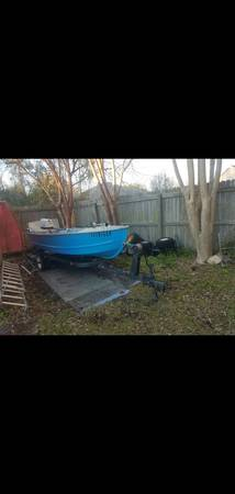 Photo 1964 14 foot Feather Craft Aluminum V Hull Boat With Outboard - $2,250 (Oceanway)