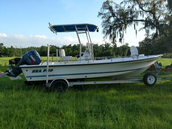 2000 21ft Sea Pro Bay Boat