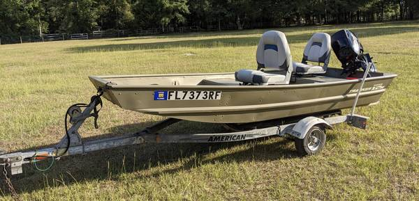 Photo 2017 12 ft Tracker aluminum Jon boat - $3,500 (Branford)